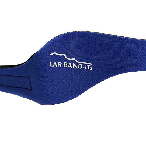 NNS002B-SB-1-EAR BAND-IT ULTRA Swimming Headband w- Floating Colored Plugs, Blue