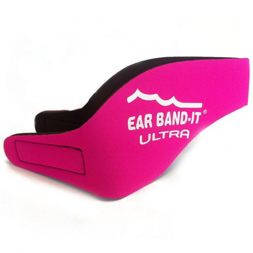NNS002B-SPINK-1-EAR BAND-IT ULTRA Swimming Headband w- Floating Colored Plugs, Pink