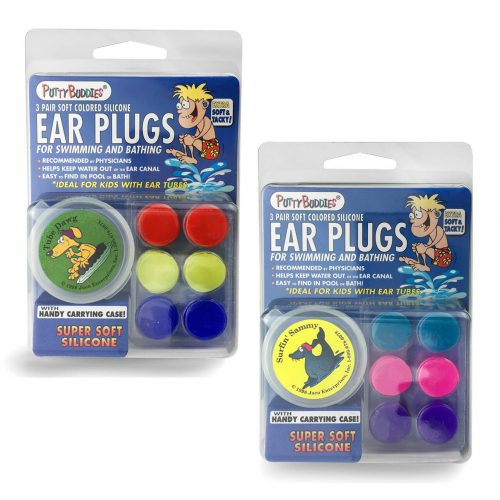 NNS002E-C3-1-PUTTY BUDDIES Original Swimming Earplugs-3-Pair Pack
