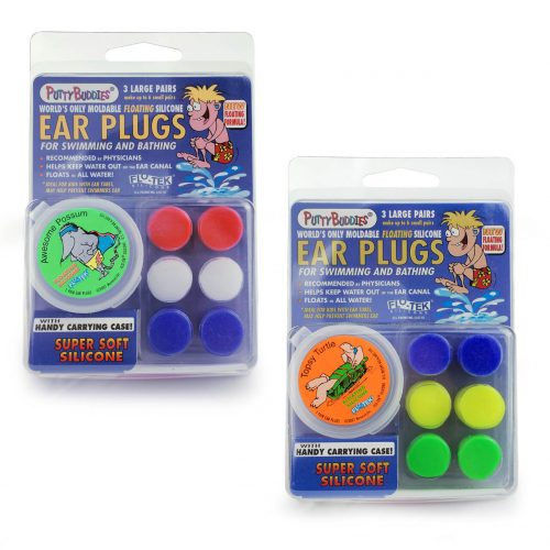 NNS002F-C3-1- PUTTY BUDDIES Floating Earplugs 3-Pair Pack – Soft Silicone Ear Plugs for Swimming & Bathing – Invented by Physician