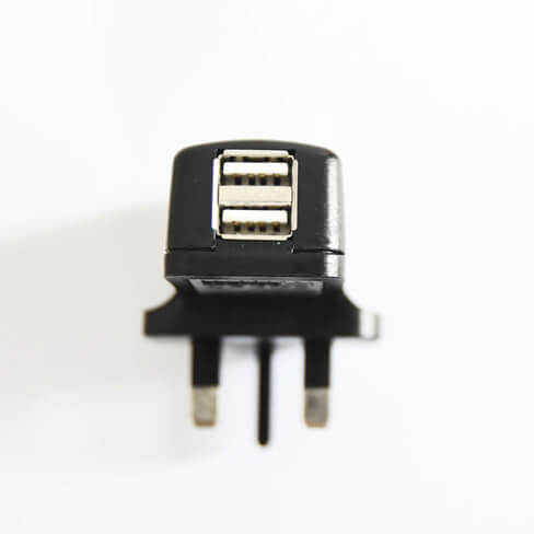 Dual USB Power Adapter (SPRING Singapore Safety Mark)