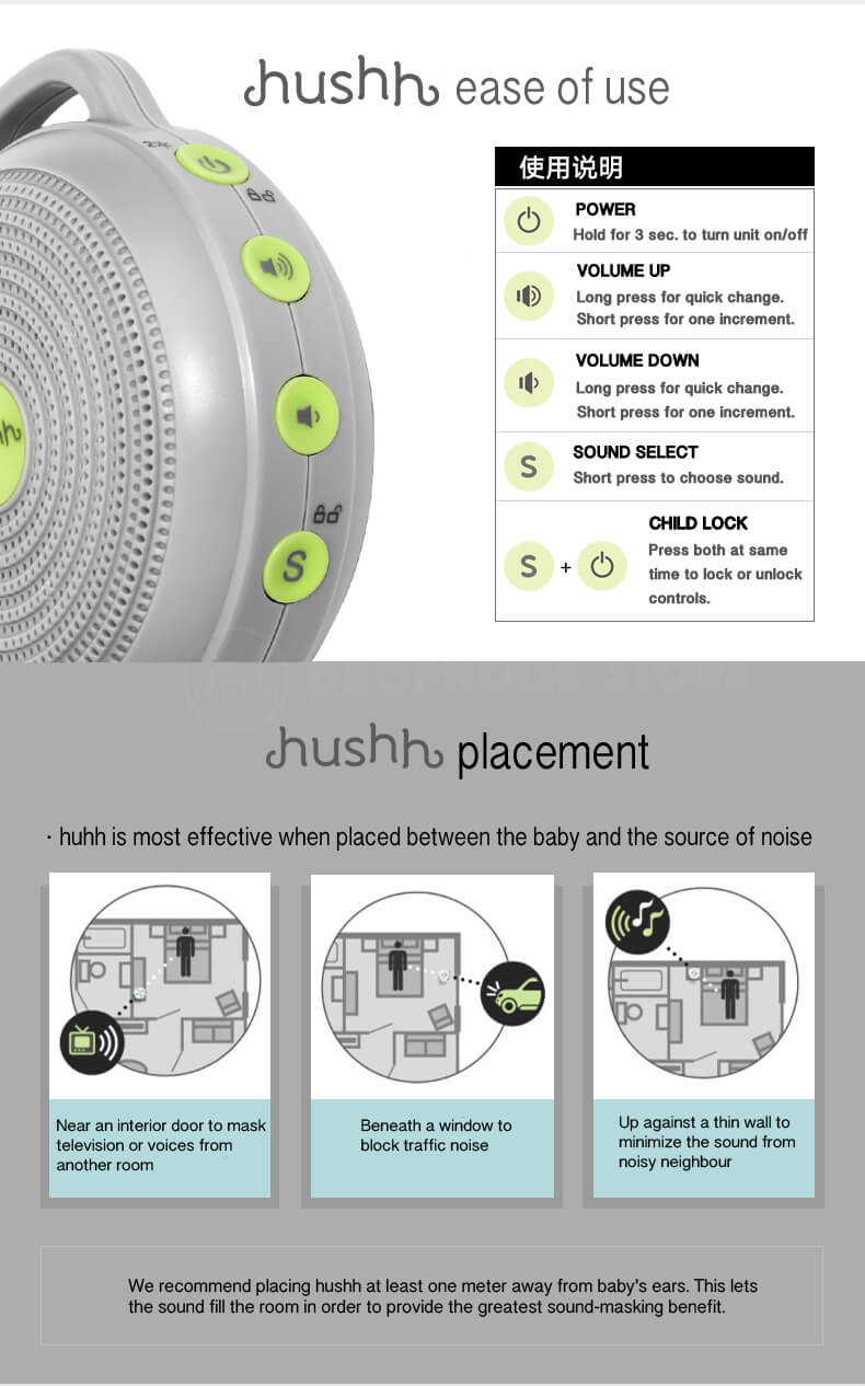 Marpac Hushh Sound Machine For Baby Dropnoise Store