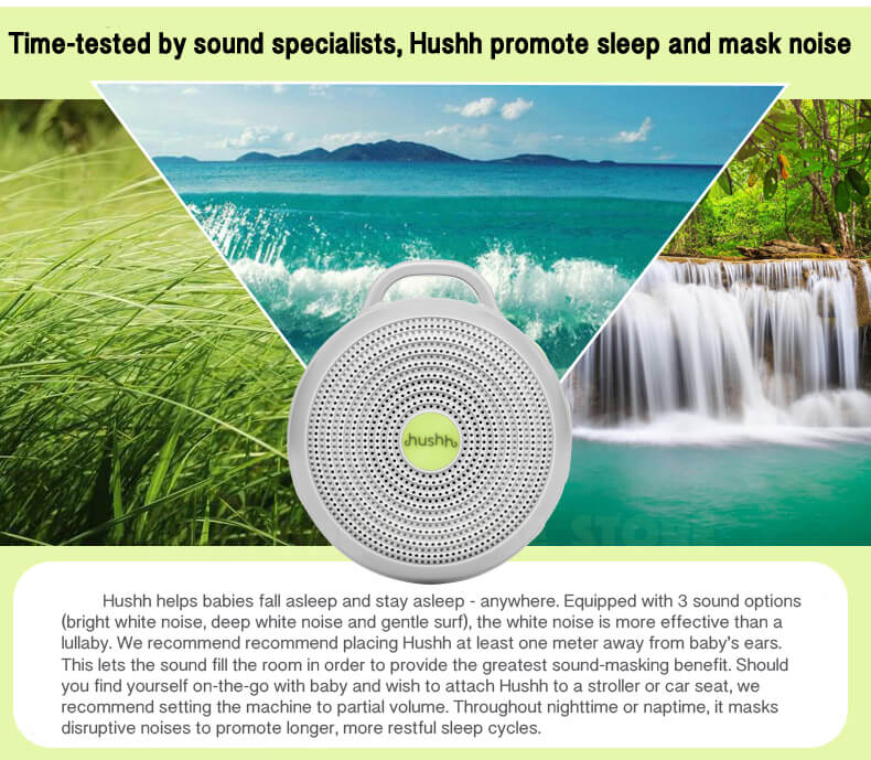Original Marpac Hushh For Baby, Portable White Noise Sound Machine