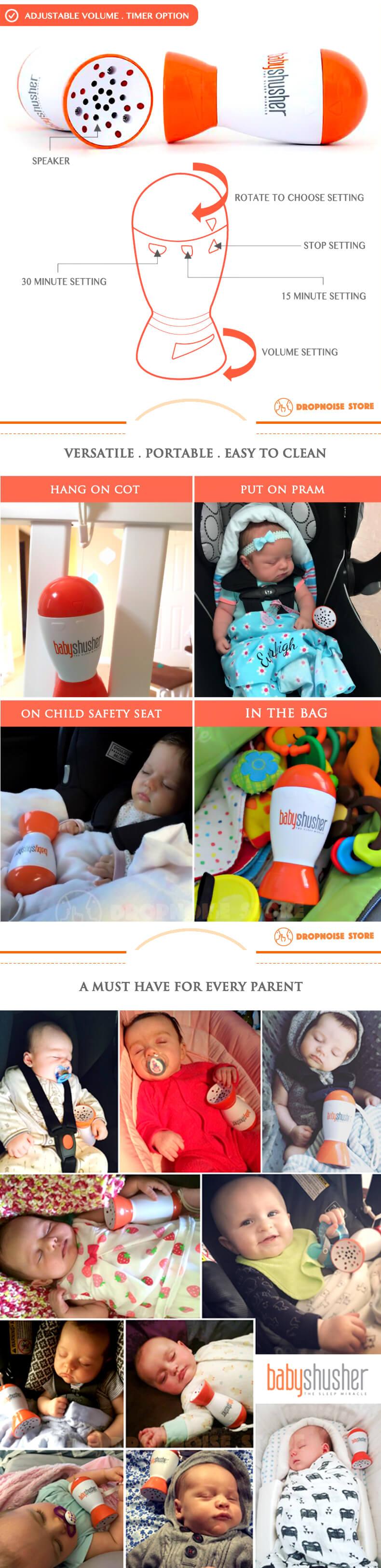 Baby Shusher - Dropnoise Store (3) Logo