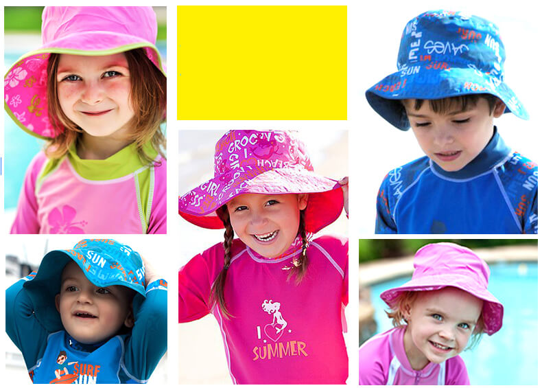 NNS007E-6-BabyBanz Baby Fin Frenzy UV Reversible Hats - dropnoise
