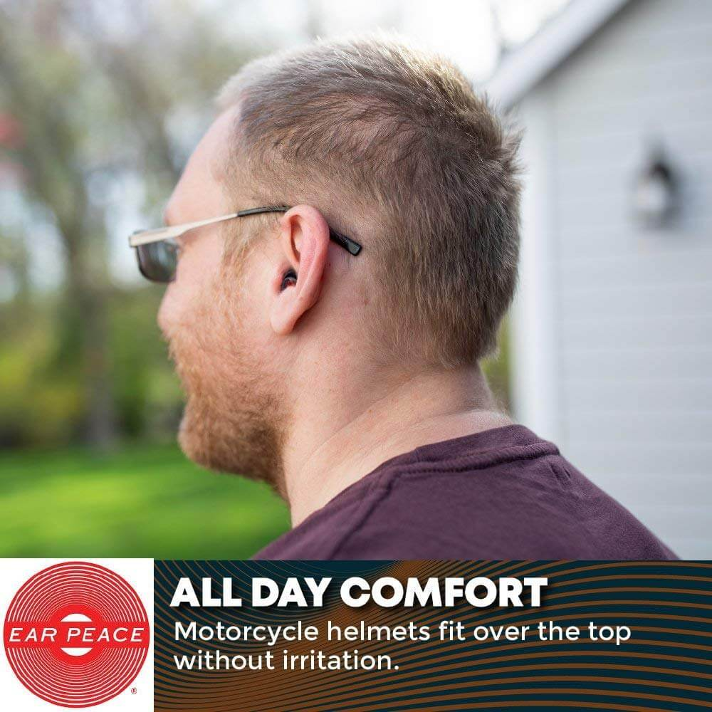 Regular, Red Case EarPeace Motorcycle Ear Plugs Noise Reduction and High Fidelity Hearing Protection for Motorsports